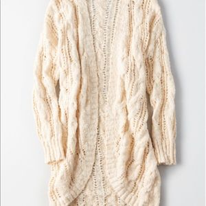 AE Slouchy Pointelle Cocoon Cardigan